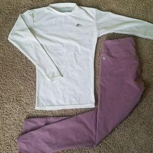 Long sleeved athletic undershirt